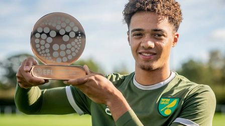 Norwich City and Northern Ireland full-back Jamal Lewis has been named EFL young player of the month