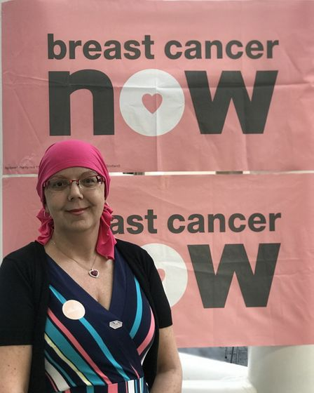 Kim Smith, primary breast cancer patient, at wear it pink event