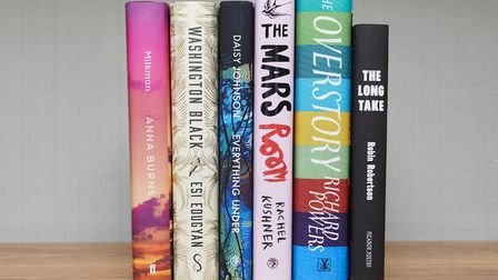 The six shortlisted Man Booker Prize novels for 2018. Picture: MAN BOOKER