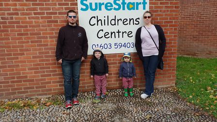 Jon and Clare Watson, who have launched a petition against proposals to close children's centres in