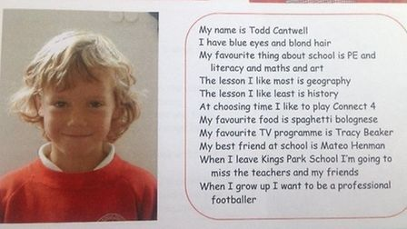 Todd Cantwell had always dreamed of becoming a professional footballer, even in junior school. Pictu