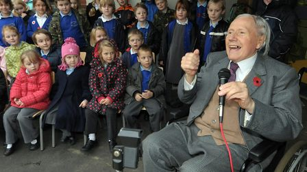 Adrian Gunson speaking at Seething and Mundham primary school pupils opening ceremony in 2010. Pic: