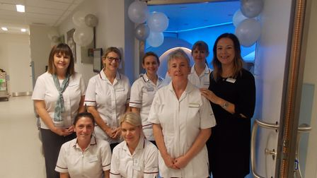 Vicki Tinkler Radiology Manager at Spire Norwich Hospital (right) with her colleagues in the radiolo