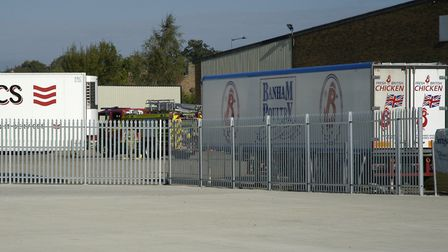 Emergency services at Banham Poultry in Attleborough. Picture: Simon Parkin