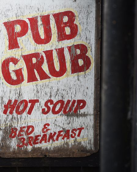 One of the old pub signs. Picture: ANTONY KELLY, Archant Norfolk.