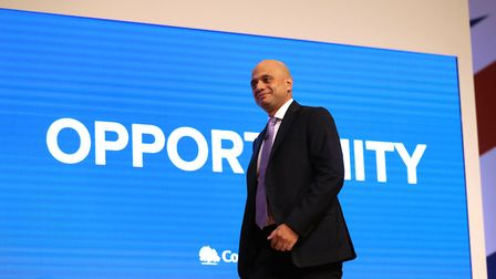Home secretary Sajid Javid before speaking at the Conservative Party annual conference Photo: Aaron