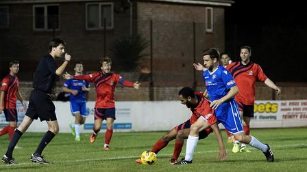 Adam Tann in action for Lowestoft Town against St Neots. Picture: Shirley D Whitlow