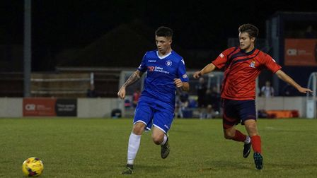 Lowestoft's Henry Pollock in action against St Neots. Picture: Shirley D Whitlow