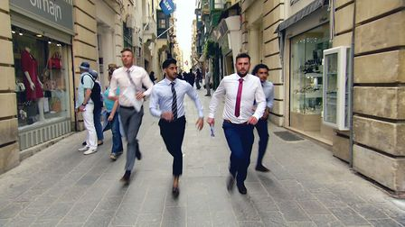 The Apprentice - Frank, Daniel, Rick and Kurran running the streets in Malta as they run out of time