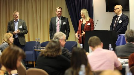 A panel discussion at the Best Employers awards conference in Newmarket. Picture: David Johnson Phot