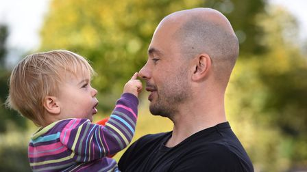 Richard Steer with his 16 month old daughter Lily Picture: SARAH LUCY BROWN