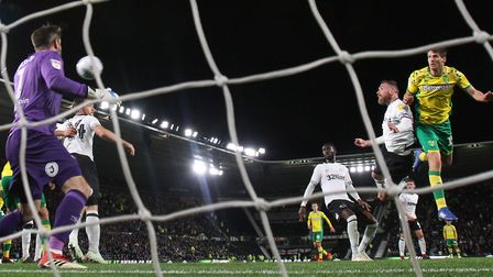 Timm Klose earned Norwich a point at Derby Picture: Paul Chesterton/Focus Images Ltd