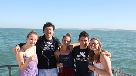 Lauren Burton from Dereham was part of a team of 5 that swam across the English Channel in under 10