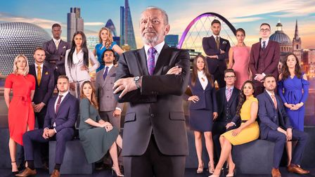 Lord Sugar with The Apprentice Candidates of 2018. Picture: BBC/Boundless Taylor Herrin/Jim Marks