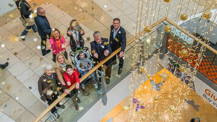 Intu Chapelfield Christmas light installation for the EACH Nook Appeal. Picture: Simon Finlay Photog