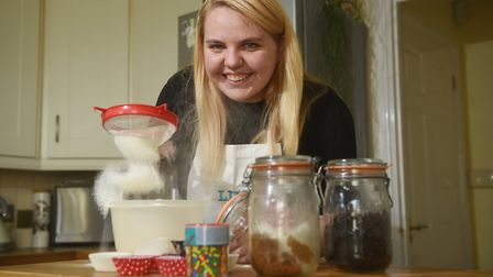 Lily Aldis, who suffered a stroke, is joining the Give a Hand and Bake campaign.Picture: ANTONY KELL