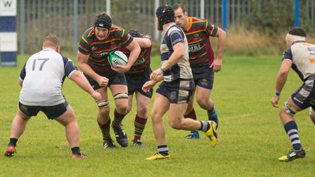 Tom Lloyd gets Norwich moving forward during a much needed win at Cantabrigian Picture: ANDY MICKLET