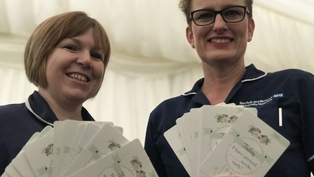 Kate Lloyd, family care sister and Charlotte Devereux, neonatal outreach sister from the Norfolk and
