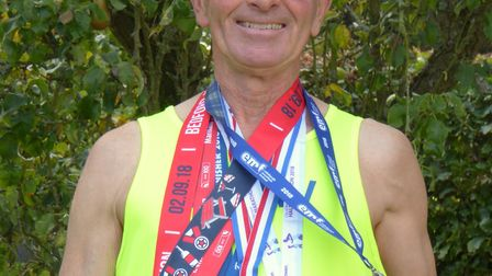 Stewart with his 6 medal tally, Just one more medal needed Picture: Stewart South