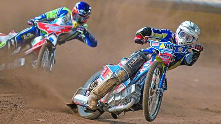 Action from King's Lynn Stars' clash at Poole Picture: Taylor Lanning