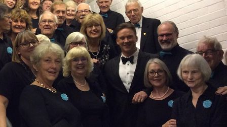 Russell Watson with Pakefield Singers at Snape Maltings. Picture: Pakefield Singers