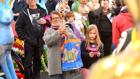 The general public enjoying the 'Meet the GoGoHares' event at the Forum. Picture: Nick Butcher