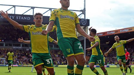 City striker Teemu Pukki scored the only goal against Middlesbrough at Carrow Road Picture: Paul Che