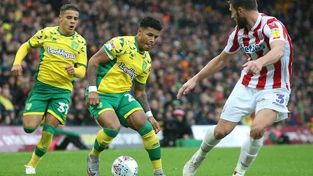 The fit-again Onel Hernandez couldn't help the Canaries find an equaliser against Stoke Picture: Pau
