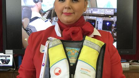 Mrs Adcock from Costessey Junior School made sure the children had a safe 'flight' with her role as