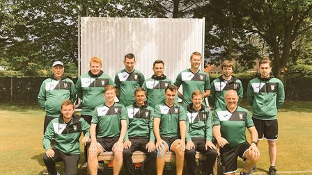 Bradley Raper (pictured top far right) with Dereham Cricket Club. Picture: Supplied by James Harbour