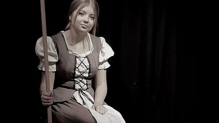 Cinderella, Lydia Bunnewell, is still looking for her Buttons. Picture: Triple T Productions