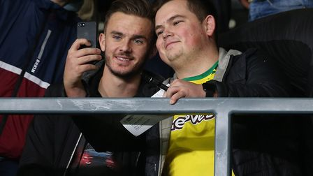 James Maddison was at Pride Park supporting Norwich on the eve of his England senior call-up Picture