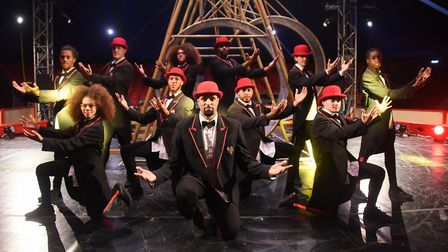 Former Britain's Got Talent winners, Diversity, before their circus spectacular show, Ignite, at Ear