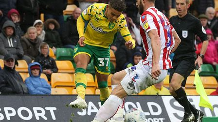 Young right-back Max Aarons justified the faith of head coach Daniel Farke against Stoke Picture: Pa