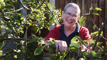 Ann Basey, 70, enjoying her garden during her 'year of me', setting herself a series of challenges a