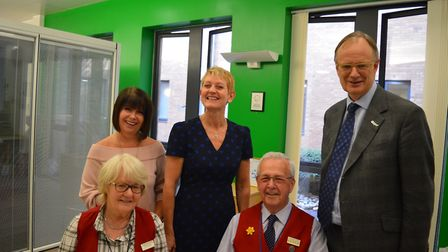 Sir Tom Hughes-Hallett met with volunteers, managers and some of the NNUH executive team. Photo: NNU
