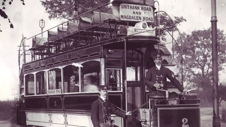 A tram on Unthank Road, Norwich. Photo: Archant Library