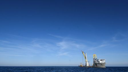 East Anglia ONE offshore wind farm progression.Picture: ANTONY KELLY