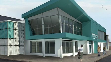 The striking design of the improved Long Stratton Leisure Centre. Picture: South Norfolk Council