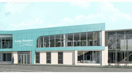 The front design of the improved Long Stratton Leisure Centre. Picture: South Norfolk Council