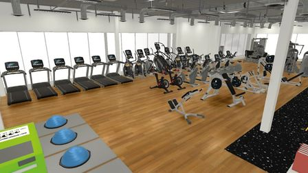 Impression of the gym of the improved Long Stratton Leisure Centre. Picture: South Norfolk Council