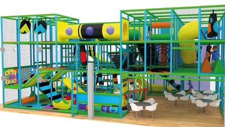 Impression proposed soft play area at improved Long Stratton Leisure Centre. Picture: South Norfolk