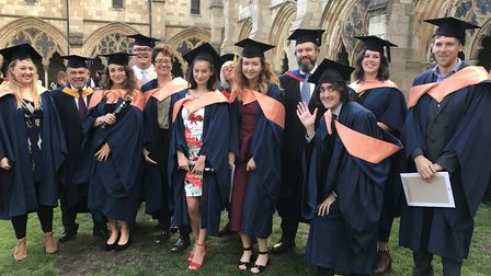 City College Norwich Students at graduation 2018