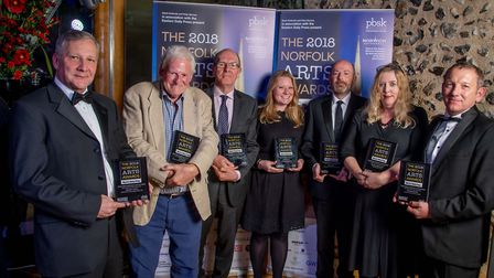 Norfolk Arts Awards 2018 at The Hostry at Norwich Cathedral. Outstanding Contribution to the Arts Aw