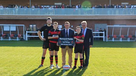 England's Tom Youngs officially opened Wymondham Rugby Club's new home at Barnard Fields Picture: CH