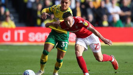 Max Aarons had his hands full with Nottingham Forest attacker Joe Lolley, but ultimately played a bi