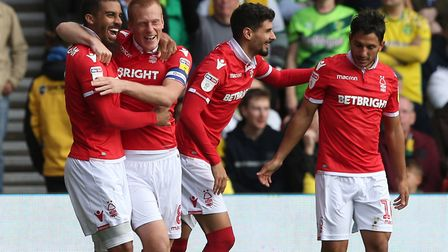 Lewis Grabban's opening goal was as good as it got for Nottingham Forest, on Norwich City's visit to