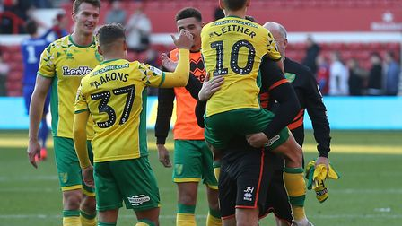 Moritz Leitner takes a ride as Norwich City continued their rise from the recent ashes at the City G
