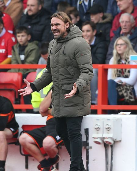 Daniel Farke is ready for another tense affair against Aston Villa at Carrow Road Picture: Paul Ches