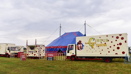 The last ever performances of Circus Tyanna are currently taking place at Town Green in Diss. Pictur